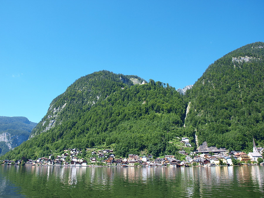 Vie from the Lake to Hallstatt