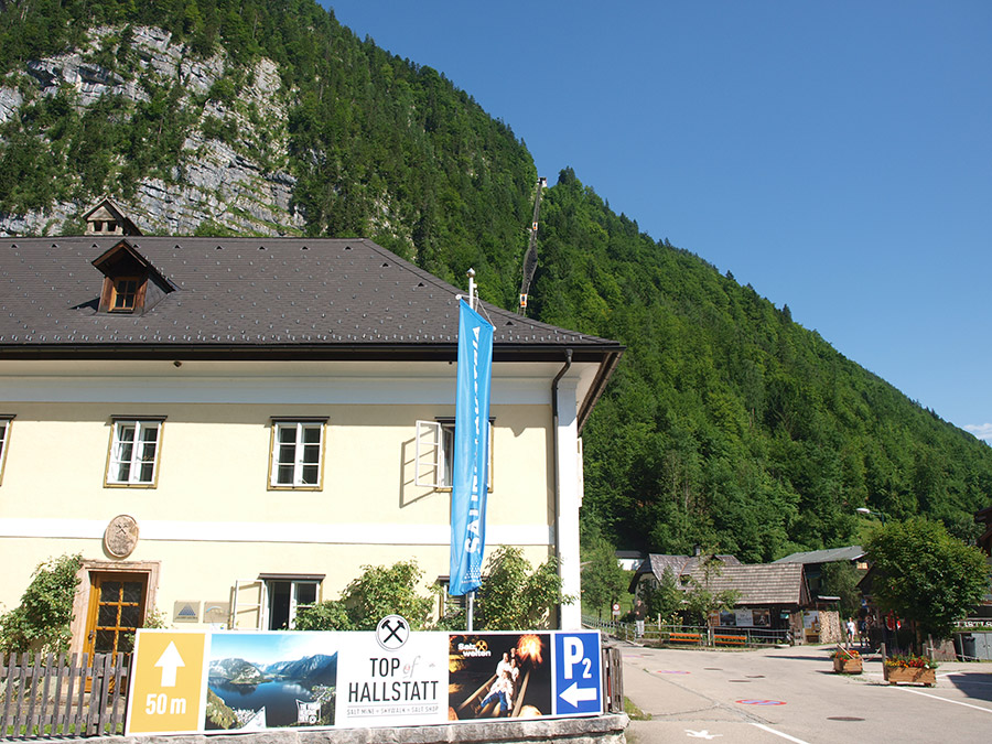 at the entrance of the Salzberg