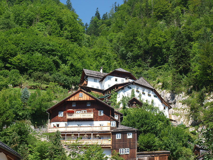 The highest houses of Hallstatt