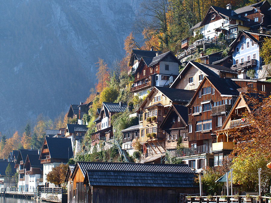 Historical buildings in Hallstatt